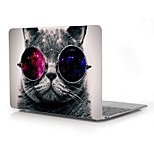 Cat with Cosmos Glasses Design Full-Body Protective Plastic Case for 12