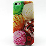 Colorful ice Cream   Pattern TPU Phone Case for iPhone 5C