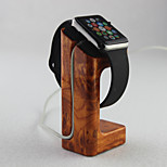 Apple Watch  Charger Stand Gold Peach Wooden Material