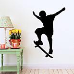 estilo decalques adesivos de parede parede parede simples de lâminas de PVC movimento adesivos