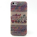 Letter Pattern TPU Material Phone Case for iPhone 5/5S