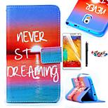 karzea ™ zee zonsopgang patroon pu lederen tas met een screen protector stylus en stof stekker voor samsung galaxy note3 N9000