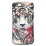 Tiger  Pattern PC + TPU Drop Resistance Phone Shell For iPhone 6 Plus