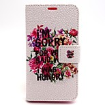 Flowers Pattern PU Leather Material Card Full Body Case for Nokia Lumia 630