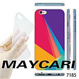 MAYCARI® Color Triangle Stitching Pattern TPU Soft Transparent Back Case for iPhone 6