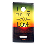 Sunrise  Pattern TPU + IMD Soft Back Cover Case For Microsoft Lumia 435/Nokia N435