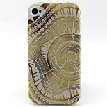 Golden Flower Pattern TPU Phone Case for iPhone 4/4S