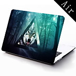 Triangle and Wolf Design Full-Body Protective Case for 11-inch/13-inch New MacBook Air