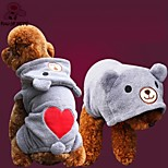 FUN OF PETS® Lovely Little Bear Pattern Fleece Jumpsuits for Pet Dogs(Assorted Colors and Sizes)