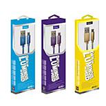 lepards® luminosa usb 2.0 macho para Micro USB 2.0 dados masculino / cabo de carregamento para Samsung / lg / HTC / Xiaomi (120cm)