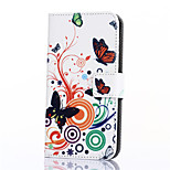 Butterfly Love Flower Pattern PU Leather Full Body Case with Stand and Card Slot for ZTE Blade S6