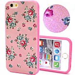 2-in-1 Bling Bling Pink Flowers Pattern PC Back Cover with PC Bumper Shockproof Hard Case for iPhone 6