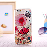 Coral Painting Ultrathin TPU with Plastic for iPhone 6