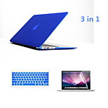 3 in 1 Full Body Hard Cases with Keyboard Flim and HD Screen Protector for Macbook Pro 15.4