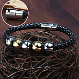 Personalized Gift Jewelry Stainless Steel/Leather Engraved Bracelets
