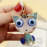 Cute Rhinestone Cat Keychain(Random Color)