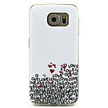 Love Pattern TPU Material Phone Case for Samsung Galaxy S6 / Galaxy S5
