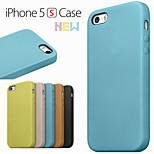 semplice pu cassa del telefono materiale per iPhone 5 / 5s (colori assortiti)