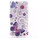 Butterfly Pattern TPU Material Soft Phone Case for LG G3