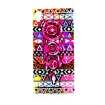 COCO FUN® Campanula Tribe Pattern Soft TPU IMD Back Case Cover for Sony M4