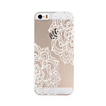 White Mandala Flower Pattern Transparent PC Hard Back Cover Case for iPhone 5/5S