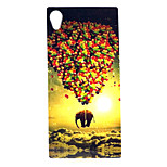 COCO FUN® Elephant & Balloon Pattern Soft TPU IMD Back Case Cover for Sony M4
