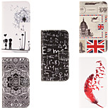 Dandelion Design PU Leather Full Body Case with Card Slot for Asus Zenfone 5