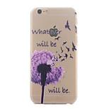 Purple Dandelion Pattern Ultrathin Hard Back Cover Case for iPhone 6