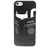 Cat Pattern TPU Material Soft Phone Case for iPhone 5/5S