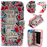 Flower and Grass Pattern with Card Bag Full Body Case for iPhone 5/5S