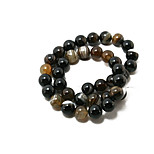 Beadia 38Cm/Str (Approx 37PCS) Natural Agate Beads 10mm Round Dyed Black Color Stone Loose Beads DIY Accessories