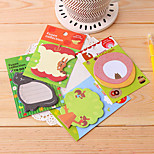 Forest Animals Pattern Self-Stick Note(Random Color)