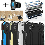 R-JUST Gundam 100% Waterproof Metal Aluminum Gorilla Glass Case +Sports armband for iPhone 6 4.7