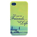 Friends Forever Pattern PC Material Phone Case for iPhone 4/4S