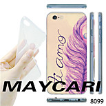 MAYCARI®Purple Leather Pattern TPU Soft Transparent Back Case for iPhone 6