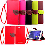 High Quality Wallet Card Holder PU Leather Flip Case Cover for Sony Xperia C3(Assorted Colors)