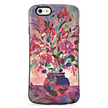 Safflower  Pattern PC + TPU Drop Resistance  Phone Shell For iPhone 6