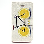 Bicycle Pattern PU Leather Full Body Case with Card Slot and Stand for iPhone 5/5S