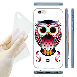 Cartoon Owl Pattern TPU Soft Back Case for iPhone 6