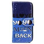 MOON Pattern PU Leather Phone Case for iPhone 5C