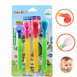 Heat Sensing Thermal Feeding Spoon Baby Kids Weaning Silicone Head Tableware