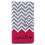 Wave Smile Pattern PU Leather Painted Phone Case For Sony Xperia M2