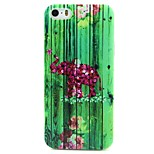 Elephant Pattern TPU Material Soft Phone Case for iPhone 5/5S