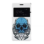 Skull Pattern PU Leather Phone Case for Sony Z4