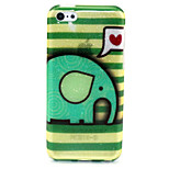 Elephant Pattern Glitter TPU Material Soft Phone Case for iPhone 5C