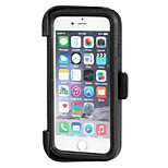 Waterproof & Dustproof & Drop Resistant Hollow Out Protective Case with 360 Degree Rotation Holder for iPhone 6 (Black)