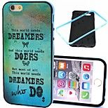 2-in-1 Dreamers and Dream Pattern TPU Back Cover with PC Bumper Shockproof Soft Case for iPhone 6
