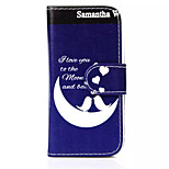 Moon Ship  Pattern PU Leather Phone Case for iPhone 5C