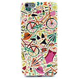 Bicycle  Pattern IMD + TPU Phone Case For iPhone 6  Plus