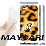 MAYCARI®Leopard Grain Pattern Transparent TPU Soft Back Case for iPhone 6